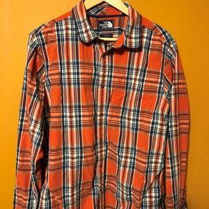 The North Face Womens Plaid Button Down Shirt Sz L